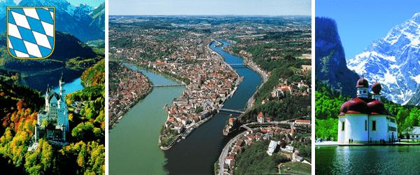 Neuschwanstein, Passau, St. Bartholomä am Königssee - Bilder: BAYERN TOURISMUS Marketing GmbH,www.bilder.bayern.by