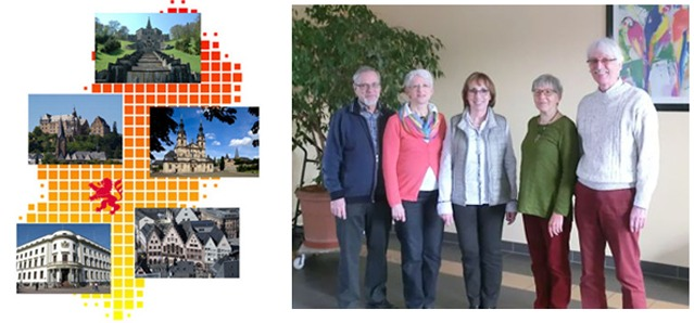 Vorstand v.l.n.r. Rolf Krey, Anita Krey, Gisela Floß, Christina Voce, Ehrwart Racky