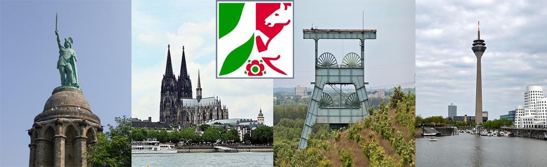 Hermannsdenkmal - Kölner Dom - Zeche Ruhrgebiet - Rheinturm Düsseldorf